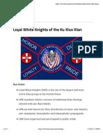 Loyal White Knights of the Ku Klux Klan