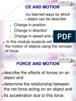 2 Force and Motion