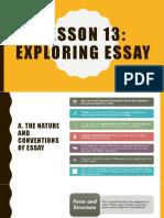 Exploring essay