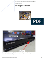 No Power In Samsung DVD Player Repaired _ Electronics Repair And Technology News