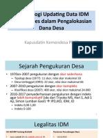 3. KEMENDES - Metodologi Updating Data IDM dan APBDes dalam Pengalokasian Dana Desa