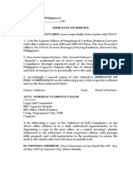 Affidavit of Service (IBP Cagayan)