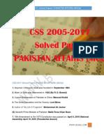 CSS 2005-2017  Solved Papers  PAKISTAN AFFAIRS (MCQs) gcaol.com
