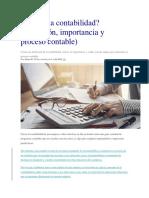 Qué es la contabilidad (definición, importancia y proceso contable)