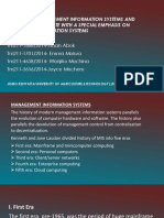 HISTORY OF MANAGEMENT IFORMATION SYSTEMS AND MILESTONES UPTO DATE