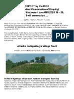 ICOE-Ngakhuya Attacks, Summarized