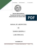 Manual de Laboratorio de Quimica General II