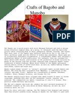 Arts and Crafts of Bagobo and Manobo
