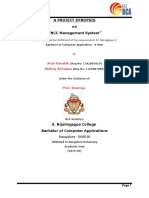 Synopsis on NCC Management System