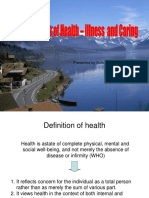 concepts of health- illness