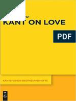 (Kantstudien Ergänzungshefte 196) Rinne, Pärttyli - Kant on Love-De Gruyter (2018).pdf