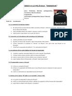 CUESTIONARIO A LA PELÍCULA AMADEUS