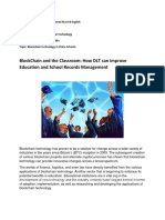 BlockChain Reaction paper Submitted By mr. Red Dumali