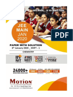 chemistry iit 2020 solved paper