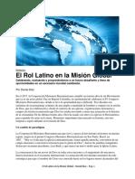 El Rol Latino en la Mision Global - Daniel Diaz