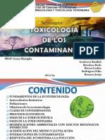 TOXICOLOLOGIA DE CONTAMINANTES. Presentacion