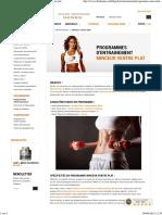 Programme entrainement musculation minceur ventre plat