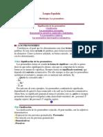 Lengua Española - Pronombres