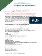 Updated CBSE UGC NET Syllabus for Psychology