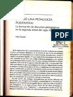 Existió una pedagogía positivista- Dussel