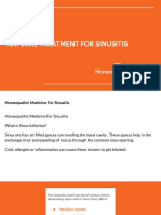 Natural Treatment for Sinusitis