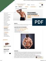 Programme entrainement musculation sèche