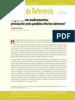 Regulando los Medicamentos - Precaución Ante Posibles Efectos Adversos