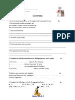 Test paper 6-th grade. unit 5 ART