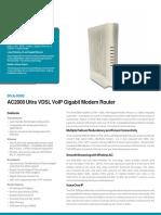 Modem Router D-LINK  DVA5592A1Datasheet