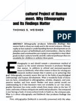 Weisner 1997 - Why Ethnography Matters