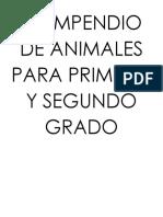 COMPENDIO DE ANIMALES PARA PRIMERO Y SEGUNDO GRADO
