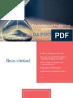 Fundamentos Históricos e Epistemologicos da Psicologia