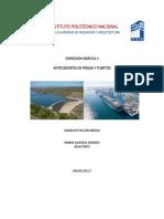 Antecedentes de presas y puertos