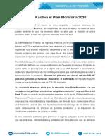 Comunicado Moratoria 2020 - AFIP