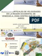 XCONVESIS MODELOS CORTICALES DE VELOCIDADES EN LA REGIÓN OCCIDENTAL DE VENEZUELA, ZONA CENTRO-SUR DE LOS ANDES