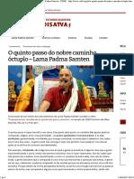 O QUINTO PASSO DO NOBRE CAMINHO ÓCTUPLO