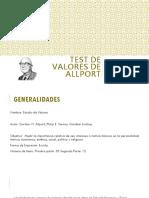 TEST DE VALORES DE ALLPORT