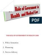 The necessity of government intervention in the health care