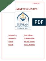 Subject Service Marketing