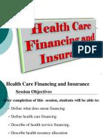 Health care financing