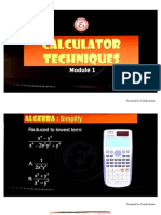 Calculator Techniques Module 1