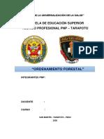 ORDENAMIENTO FORESTAL- 2020