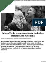 Marea Verde_ la construcción de las luchas feministas en Argentina _ La tinta