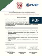 1ra Convocatoria XXIV Seminario Latinoamericano de Educación Musical - FLADEM 2018
