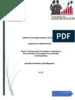 IMPORTANCIA DE LA INNOVACIÓN TECNOLÓGICA EN LA SOCIEDAD CONTEMPORÁNEA.docx