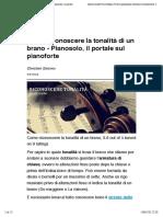 Come riconoscere la tonalità di un brano - Pianosolo, il portale sul pianoforte.pdf
