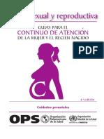Guia Para La Atencion de La Mujer y El Recien Nacido