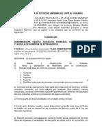 ACTA CONSTITUTIVA DE TLALI S.A. de C.V..docx