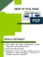 Assessing Vital Signs