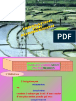 IRRIGATION PAR SUBMERSION
